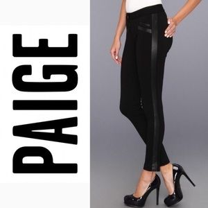 Ponte ultra-skinny ankle jeggings by Paige